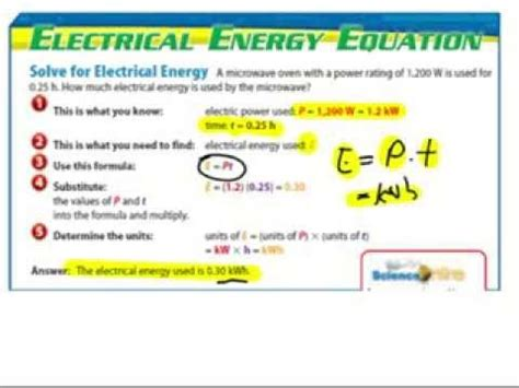calculating electric energy youtube