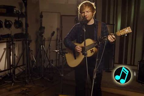 ed sheeran unplugged ed sheeran offers up acoustic thinking out loud watch