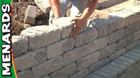 retaining wall   build menards youtube