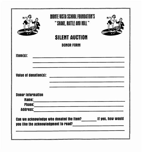 sheets receipt template silent auction donation form template sletemplatess