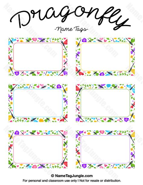 free printable paint splatter name tags the template can free printable dragonfly name tags the template can also