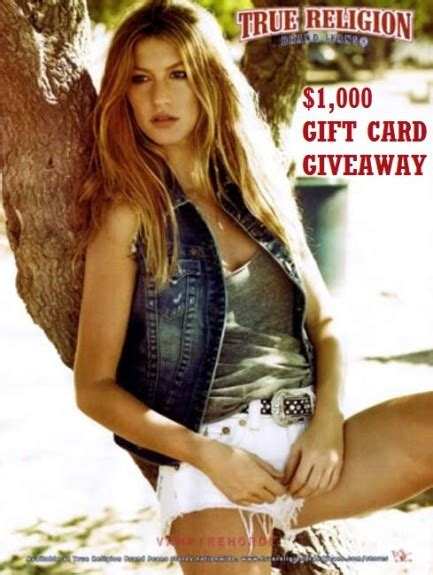 True Religion Gift Card - enter to win a 1 000 true religion gift card thrifty momma ramblings