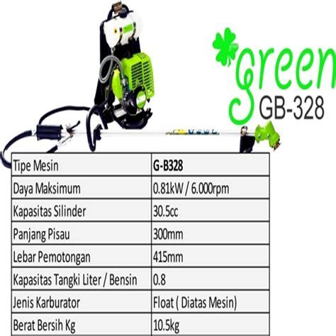 Jenis Pisau Mesin Potong Rumput Gendong harga jual green gb 328 mesin potong rumput gendong