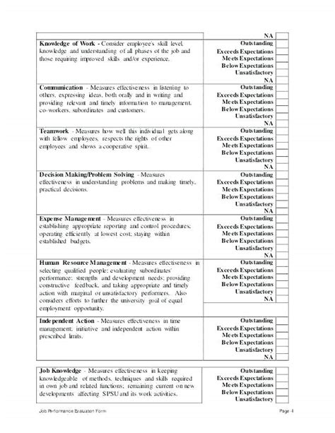 sle nursing student self evaluation annual performance review form yearly evaluation comments