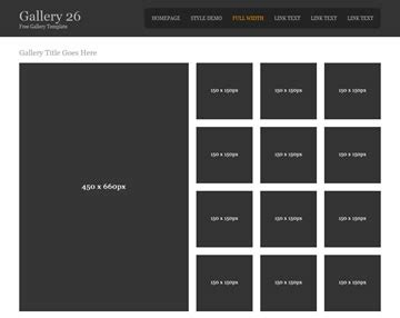 html template photo gallery gallery 26 gallery templates os templates