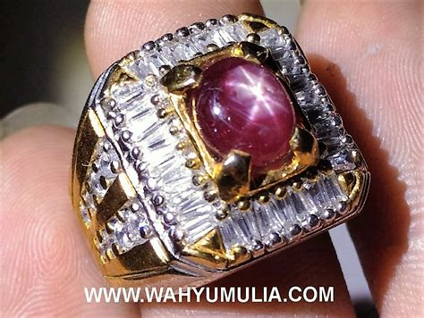 Ruby Afrika Merah Delima batu cincin permata ruby kode 374 wahyu mulia