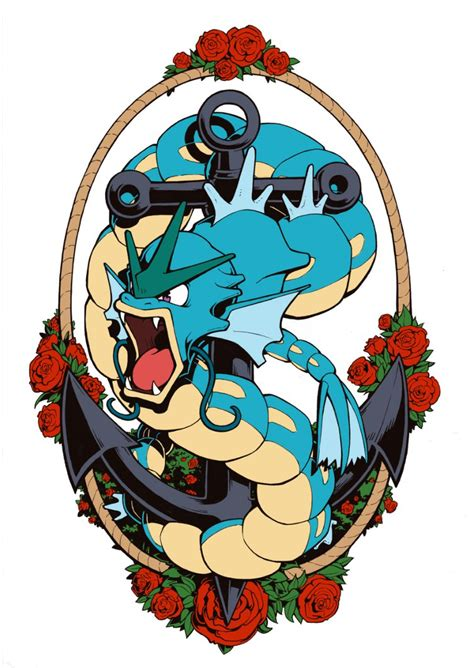 gyarados tattoo gyarados by h0lyhandgrenade on deviantart