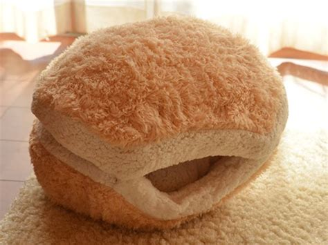 cat hamburger bed in the burger bed as well much to the chagrin of hana the