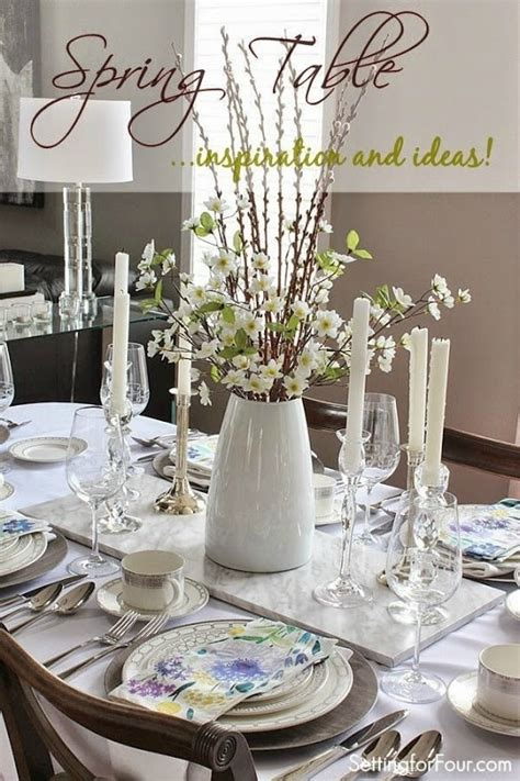 spring table settings ideas spring table decor ideas setting for four