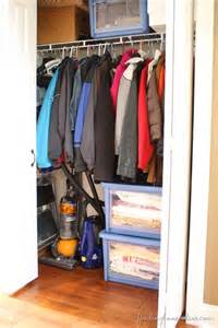 Organizing Hall Closet - the trick to organizing the hall closet finding home farms