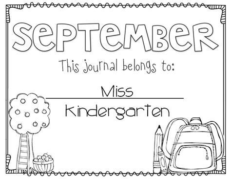 printable monthly journal covers miss kindergarten writing in kindergarten