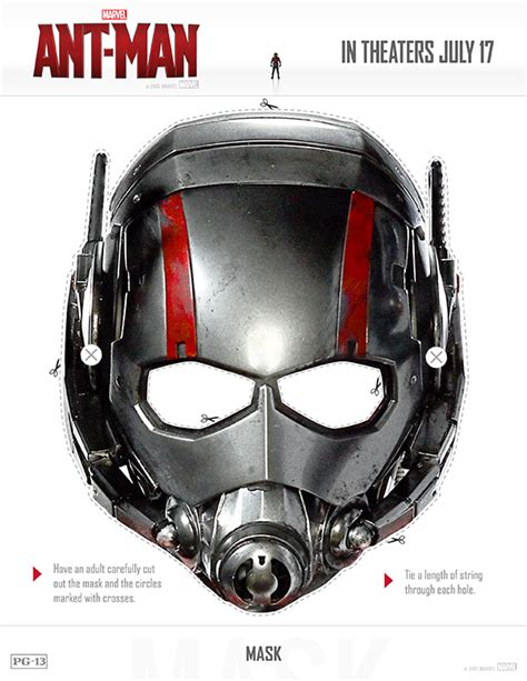 printable ant mask template free printable ant man mask movie costume facts