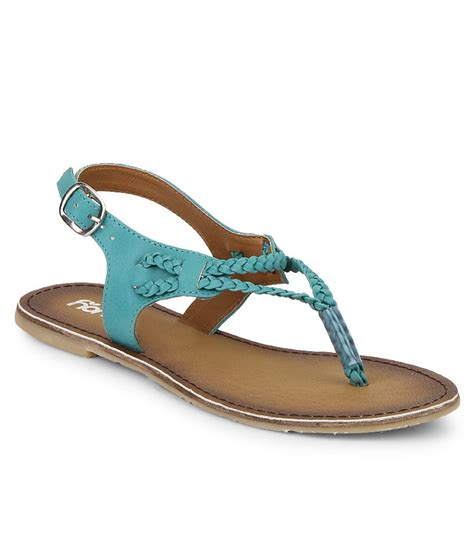 turquoise flat sandals honey by pantaloons turquoise flat sandals price in india