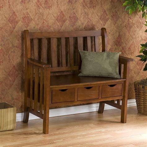 oak storage bench southern enterprises longview country oak storage bench