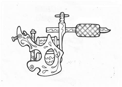tattoo machine template tattoo machine outline drawing sketch coloring page