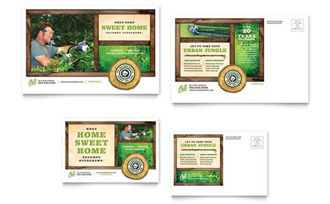 Tree Service Postcard Template Design Tree Service Advertising Template