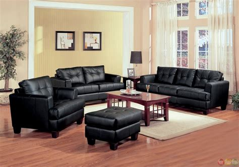 black leather living room samuel black bonded leather living room sofa and loveseat