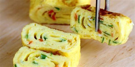 cara membuat telor gulung jepang resep telur dadar ala jepang favorit anak anak vemale com