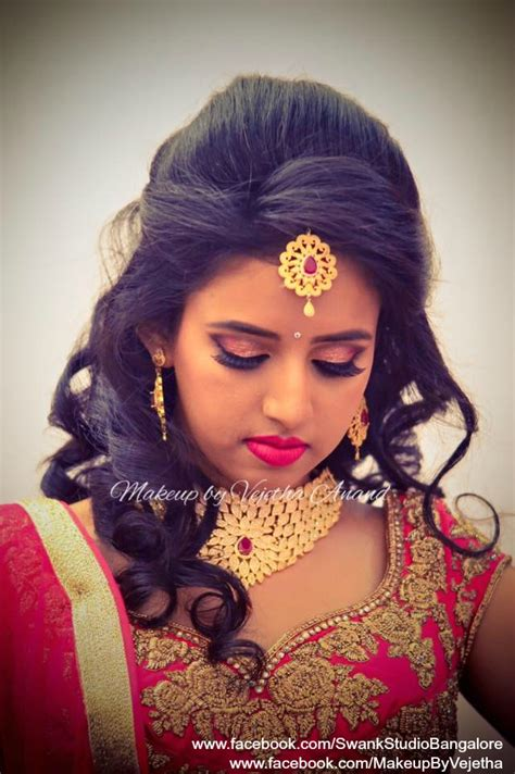 indian hairstyles with lehenga ashwini looks like a diva for her reception in a bridal