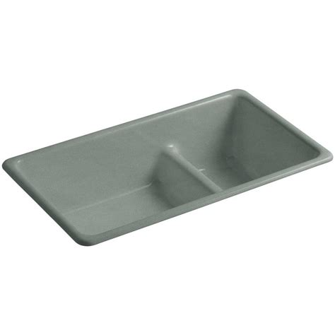 kohler iron tones sink kohler iron tones smart divide drop in undermount cast