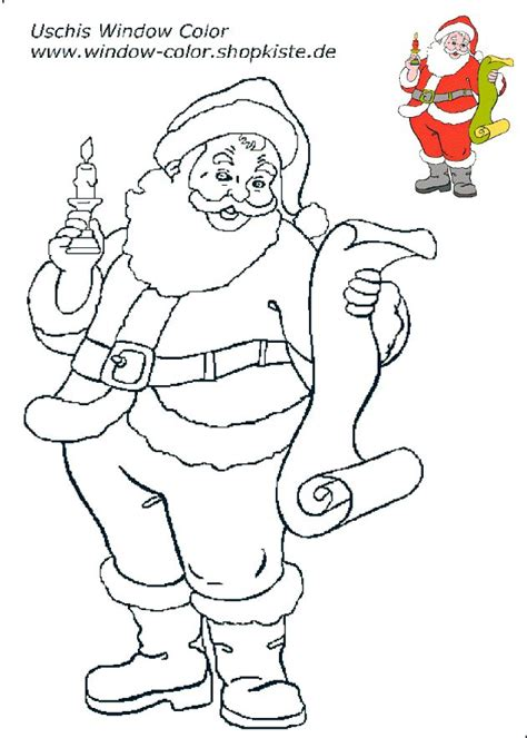 Bastelvorlagen Für Weihnachten Fensterbilder by Die Besten 25 Ausmalbilder Weihnachtsmann Ideen Auf