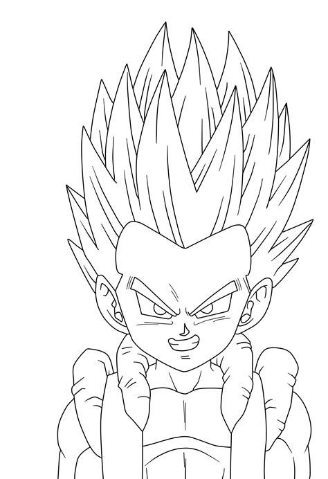 ssj gotenks free coloring pages