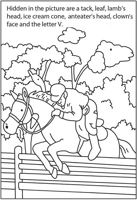 printable sports hidden pictures welcome to dover publications