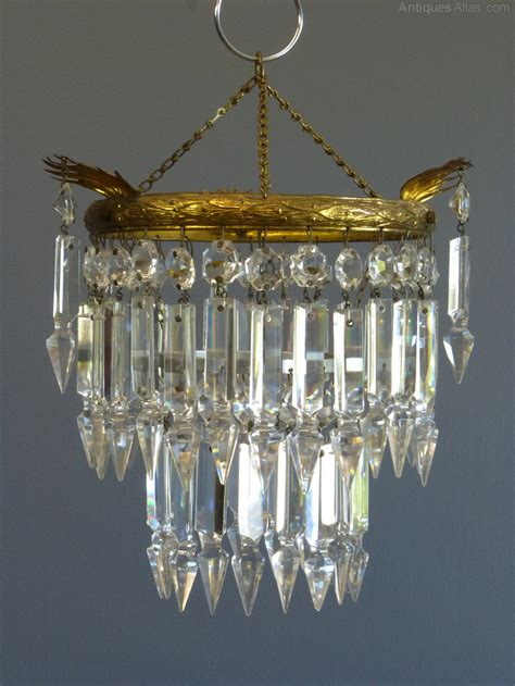 Small Glass Chandelier Antiques Atlas 1930 S Small Albert Drop Chandelier