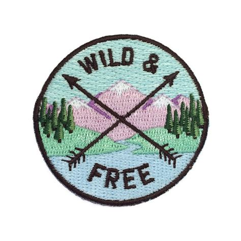 printable iron on patches wild free iron on patch embroidered applique c