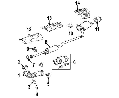 honda accord exhaust system diagram parts 174 honda exhaust system exhaust components mount