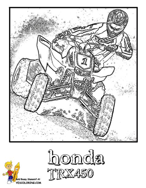 Brawny Atv Coloring Pages Atv Free Coloring 4 Coloring Pages Four Wheeler