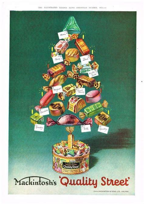 quality street chocolates ad retro christmas vintage advertising  original mackintoshs