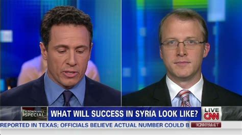 Anchorman Chris Cuomo Almost Bites It In Iraq by Defense Dept Makes For Limited Attack In Syria