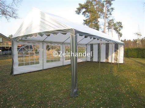 pavillon 5x8 partyzelt pavillon zelt pe 5x8 m grau weiss neu ebay