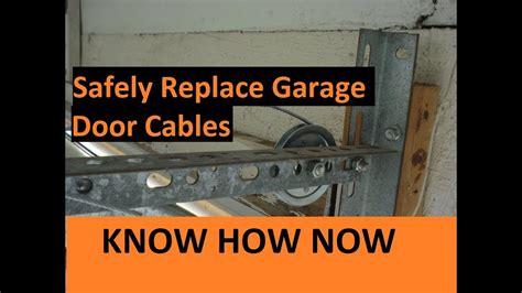 How To Replace Garage Door Cable How To Replace Broken Garage Door Cable
