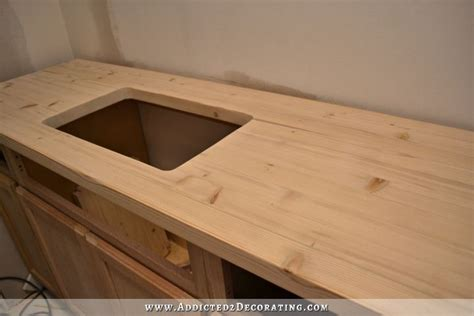cheap diy wood countertops diy butcherblock style countertop with undermount sink