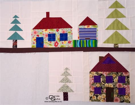 Patchwork House - a large patchwork house free pattern carols quilts
