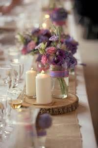 Table Centerpieces Rustic Outdoor Wedding by 25 Best Ideas About Rustic Purple Wedding On