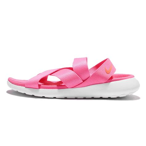 nike pink sandals wmns nike roshe one pink white womens sandal slip on