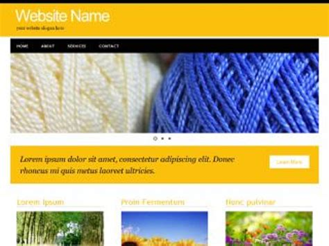 Worsted Yarn Template Free For Business Yarn Website Template