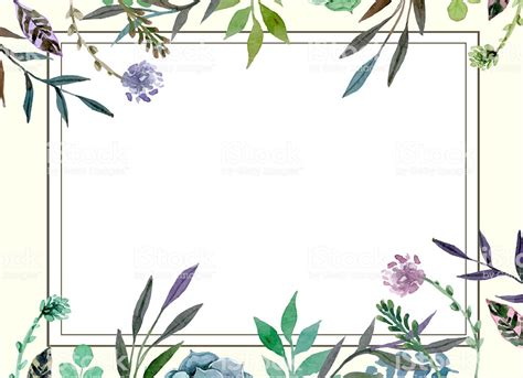 Floral Border Wedding Invitation Card Template Stock Photo More Pictures Of Art Istock Border Invitation Templates Free