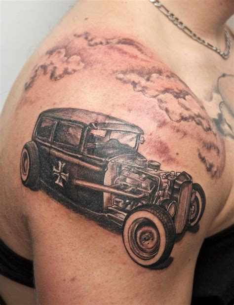 hotrod tattoo hotrod by graynd on deviantart