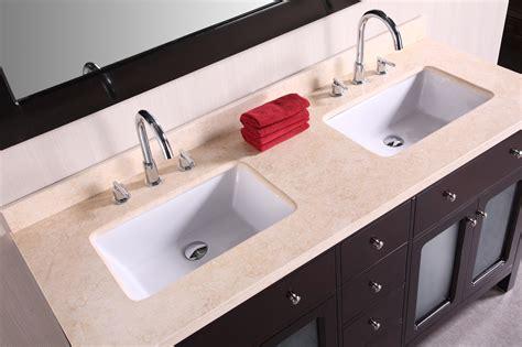 Art Denton 60 Inch Double Sink Bathroom Vanity Beige