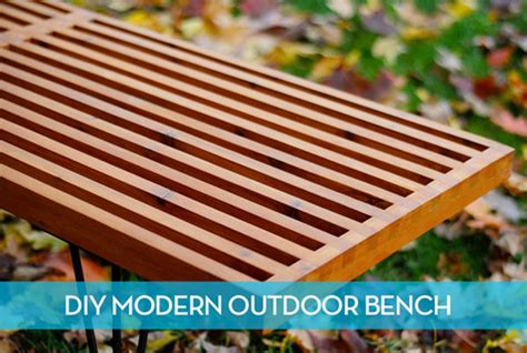 diy mid century bench how to make a diy mid century modern outdoor slat bench