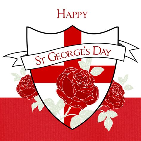 S Day Uk St George S Day Greeting Card Davora Greeting Cards