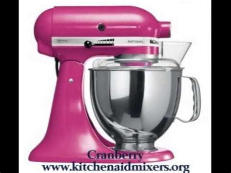 Exotic New KitchenAid Mixer Colors   YouTube