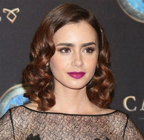 1940s hair styles for medium length hair 17 best images about lily collins style on pinterest
