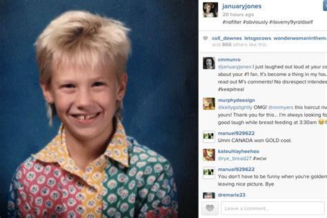 caption on new haircut january jones on instagram vanity fair