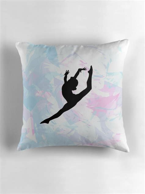 quot water colour gymnastics silhouette quot throw pillows by flexiblepeople redbubble