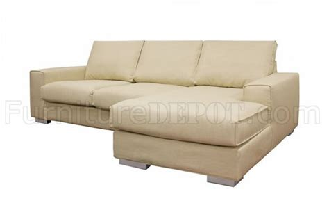 twill sectional cream twill fabric modern sectional sofa w steel legs